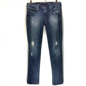 J. Crew Matchstick Vintage Destroyed Jeans 26Short